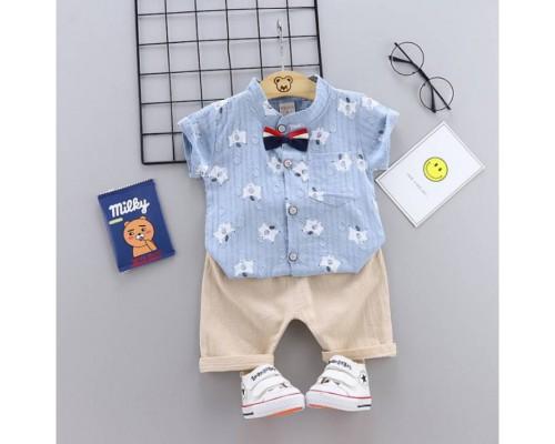 Літній костюм хлопчикові блакитний 3261