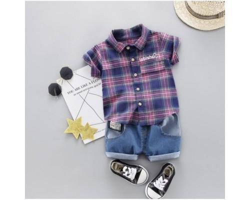 Літній костюм хлопчикові Labishy фіолет 3318