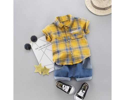 Літній костюм хлопчикові Labishy жовтий 3317