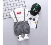 Літній костюм хлопчикові нарядний сірі шорти 3374