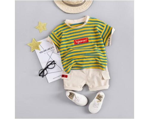Літній костюм хлопчикові Yi Saibeier жовтий 3209