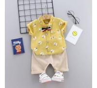 Літній костюм хлопчикові жовтий 3260
