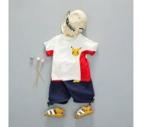 Літній костюм хлопчику білий 4023
