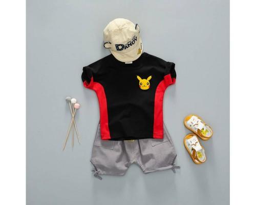 Літній костюм хлопчику чорний 4024