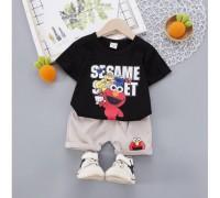 Літній костюм хлопчику Seasame чорний 4021