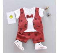 Літній нарядний костюм для хлопчика бордо 3291