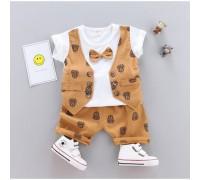 Літній нарядний костюм для хлопчика оранж 3290