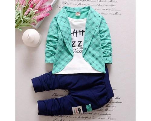Нарядний костюм для хлопчика Zzg зелений 3796