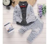 Нарядний костюм для хлопчиків сірий 9281
