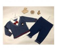 Нарядний костюм хлопчику блакитний 3899