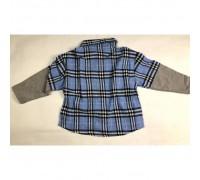 Сорочка хлопчику синя 3983