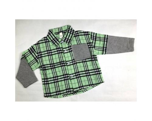 Сорочка хлопчику зелена 3986