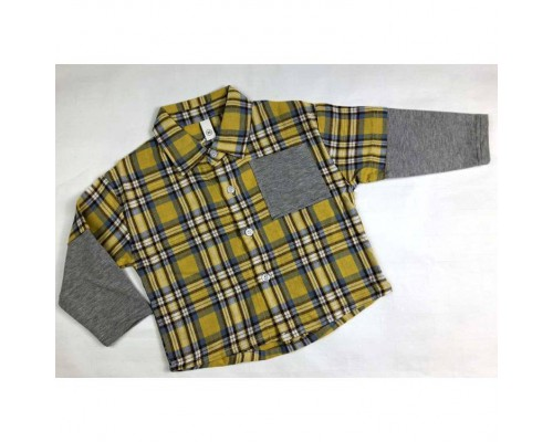 Сорочка хлопчику жовта 3985