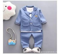 Стильний костюм для хлопчика блакитний 3834