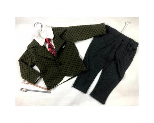 Стильний костюм-трійка хлопчику 3907
