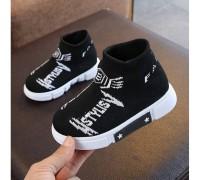 Текстильні кросівки Like Fila білі букви