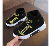 Текстильні кросівки Like Fila жовті букви