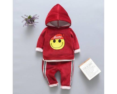Теплий костюм Smile червоний 3515