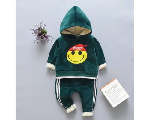 Теплий костюм Smile зелений 3520