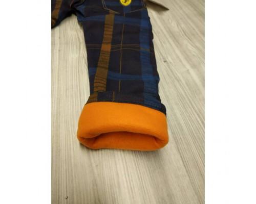 Утеплені штани для хлопчика темно-сині 3574