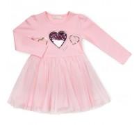 Плаття Breeze з сердечком (13647-128G-pink)