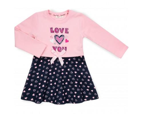 Плаття Breeze з сердечками (13770-128G-pink)
