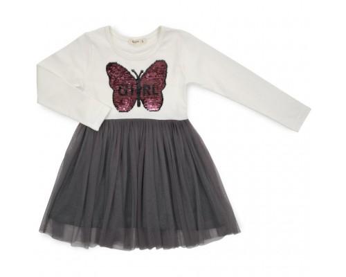Плаття Breeze з метеликом (14201-134G-cream)