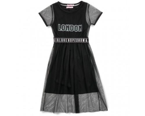 Плаття Monili з сіткою (9016-128G-black)
