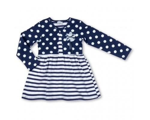Плаття Breeze біле з синім в горошок (7603-98G-white-blue)