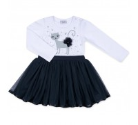 Плаття Breeze з котиком та зірочкою (8099-98G-white)