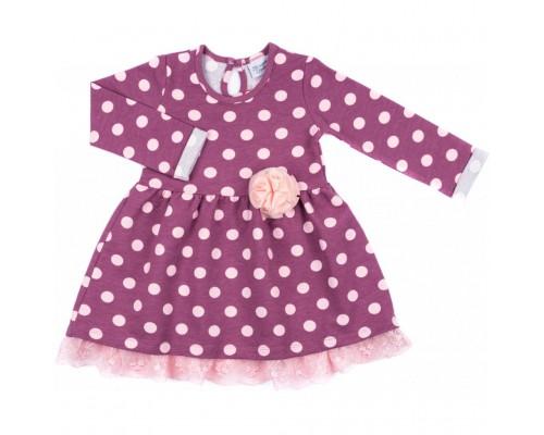 Плаття Breeze в розовый горошек с оборочкой (8659-110G-pink)