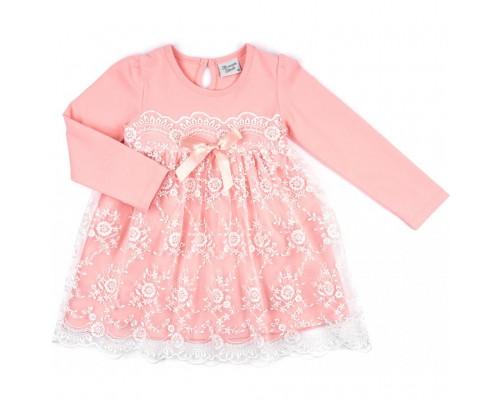 Плаття Breeze з гіпюровою спідницею (8675-92G-peach)