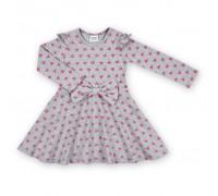 Плаття Breeze з бантом і сердечками (8719-116G-gray)