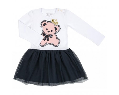 Плаття Breeze з ведмедиком в короні (8726-104G-white)