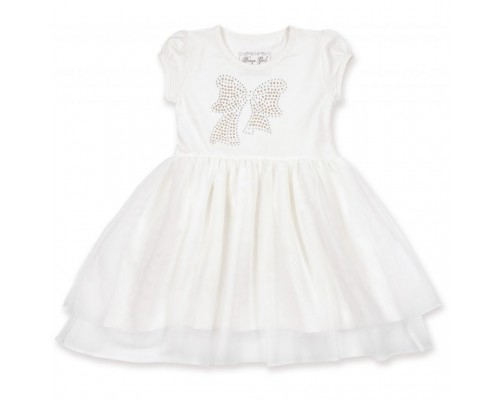 Плаття Breeze з бантиком з страз (6283-98G-cream)