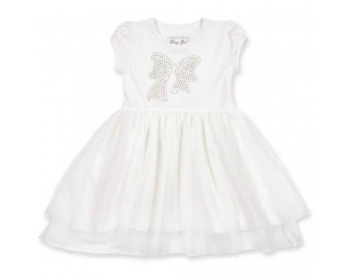 Плаття Breeze з бантиком з страз (6283-110G-cream)