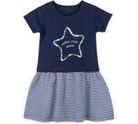 Плаття Breeze із зіркою з паєток (8745-104B-blue)