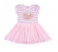 Плаття Breeze з серцем із троянд (8895-98G-pink)