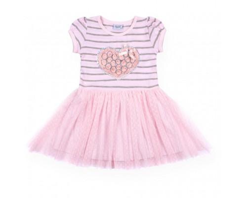 Плаття Breeze з серцем із троянд (8895-104G-pink)