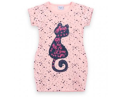 Плаття Breeze з котиком зірочкою і кишенями (8798-128G-peach)