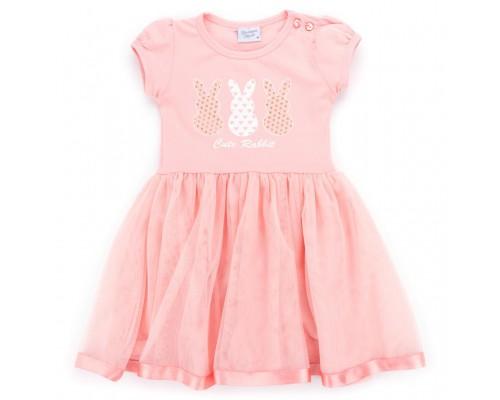 Плаття Breeze з кроликами (9091-104G-peach)
