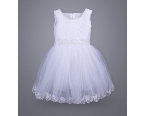 Плаття ТМ МиЯ святкове з мереживом (0711-3-4G-white)