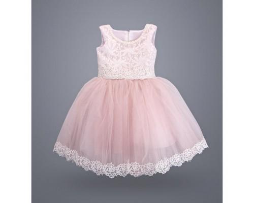 Плаття ТМ МиЯ святкове з мереживом (0711-3-4G-pink)