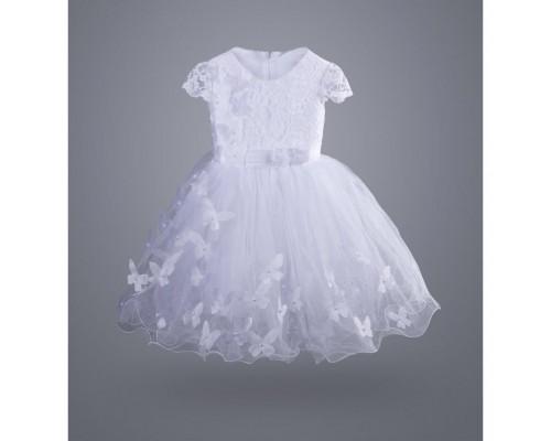 Плаття ТМ МиЯ святкове з метеликами (0712-3-4G-white)
