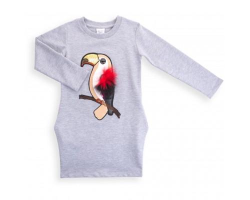 Плаття Breeze з папугою (9753-116G-gray)