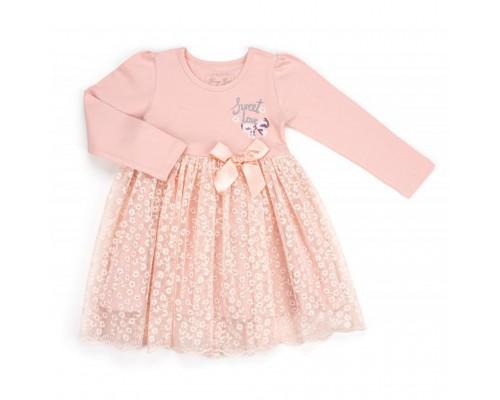 Плаття Breeze з мереживною спідницею (10548-98G-pink)