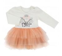 Плаття Breeze з фатіновою багатошаровою спідницею (10498-80G-peach)