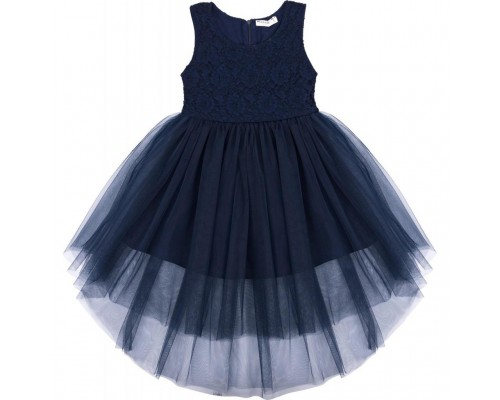 Плаття Breeze з мереживним ліфом і асиметричною спідницею (11027-116G-blue)