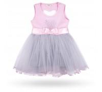 Плаття Breeze сарафан із фатіновою спідницею і серцем (10862-110G-pink)