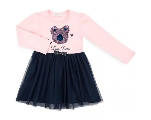 Плаття Breeze з ведмедиком (11009-98G-pink)